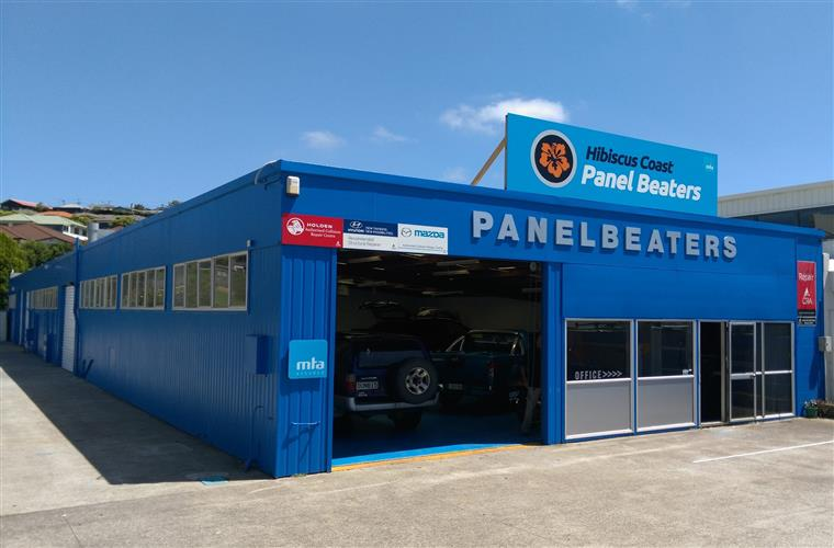 Hibiscus Coast Panel Beaters, our local repair  shop